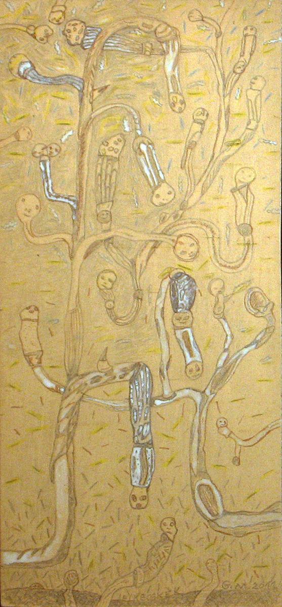 Lelkecskék - p. karton, szín. cer. pác 43x20 cm (2011)