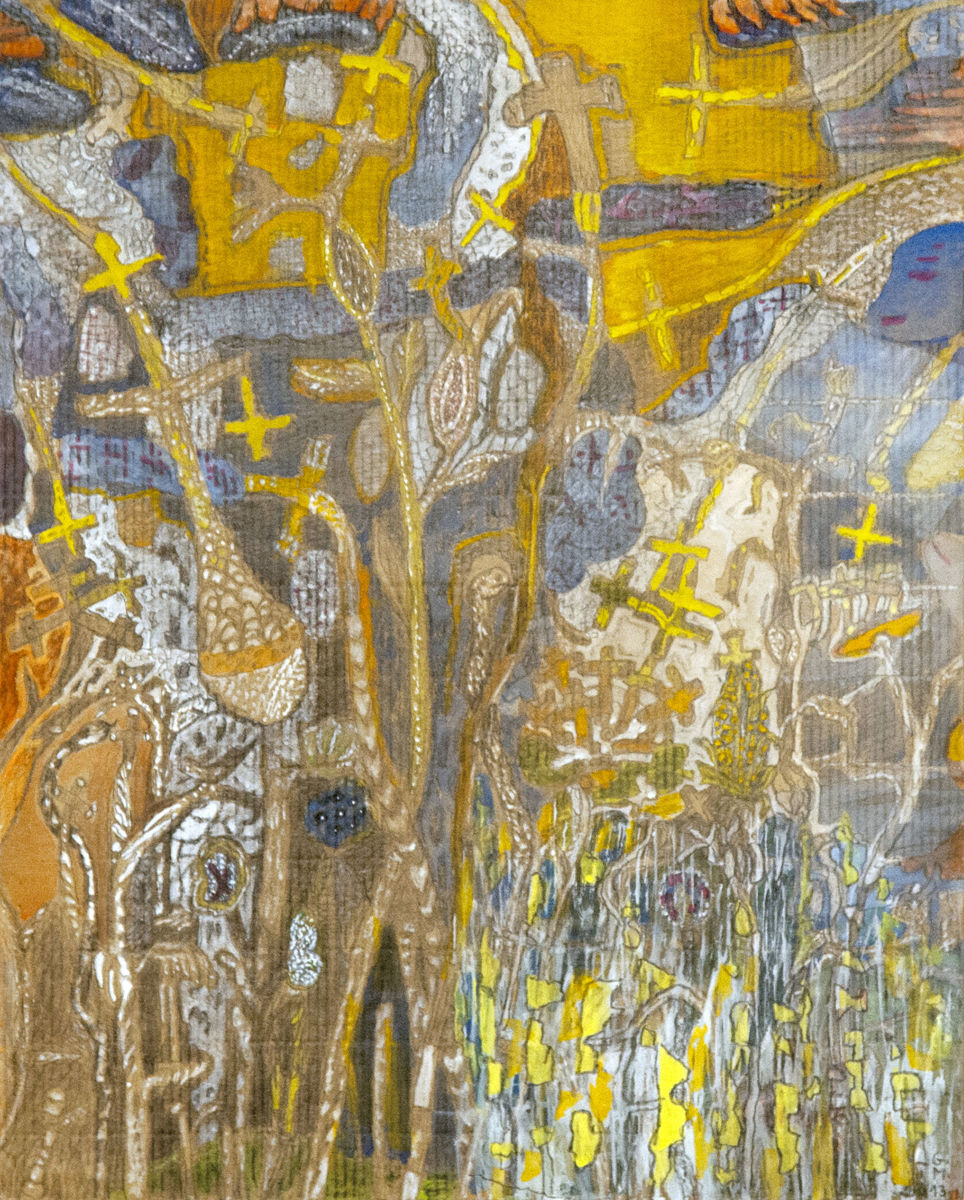 Keresztek kertje - p. cer. temp. 45x36 cm (2013)