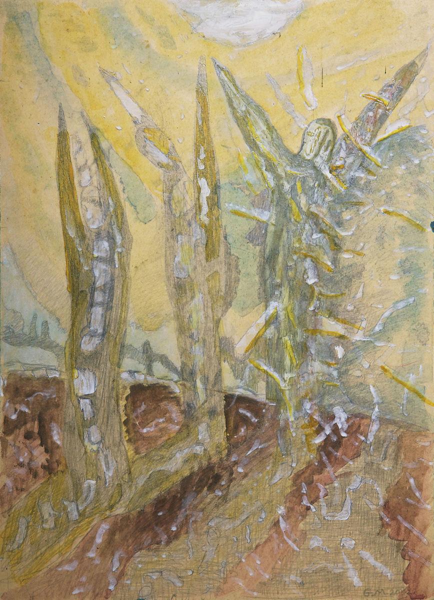 Érkező angyalok - p. cer. 50x36 cm (2012)