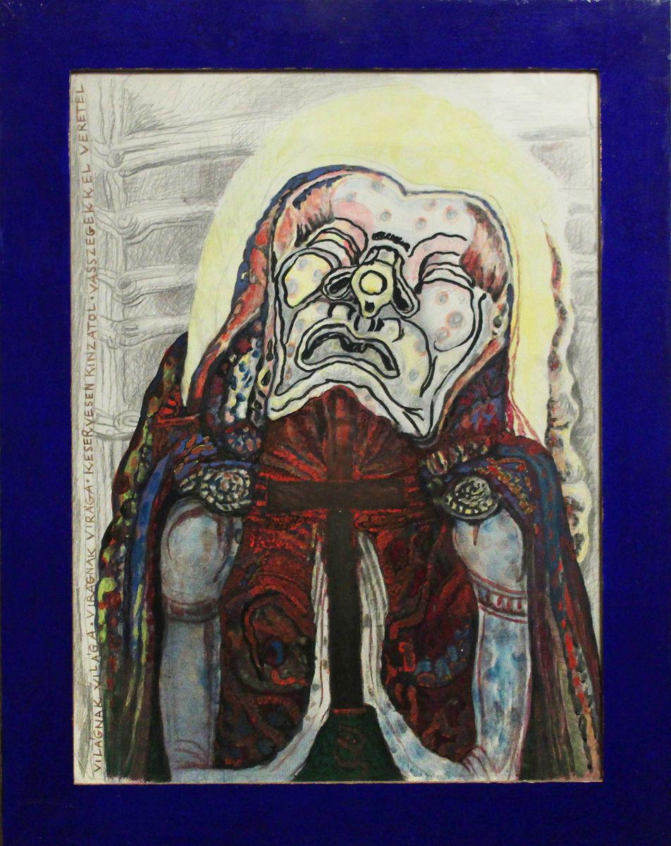 Keservesen kínzatol (ómagyar Máriasiralom) - p. cer. temp. 70x53 cm (1996)