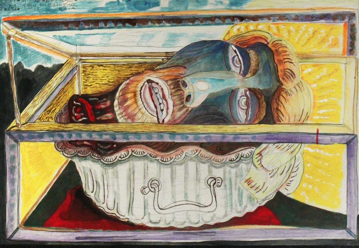 Keresztelő Szent János fejereklyéje - p. cer. temp. 46,5x70 cm (1994)